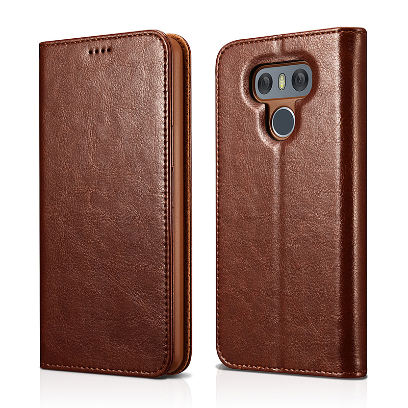 LG G6 PU Leather Book Wallet Case Cover(Magnetic Closure)