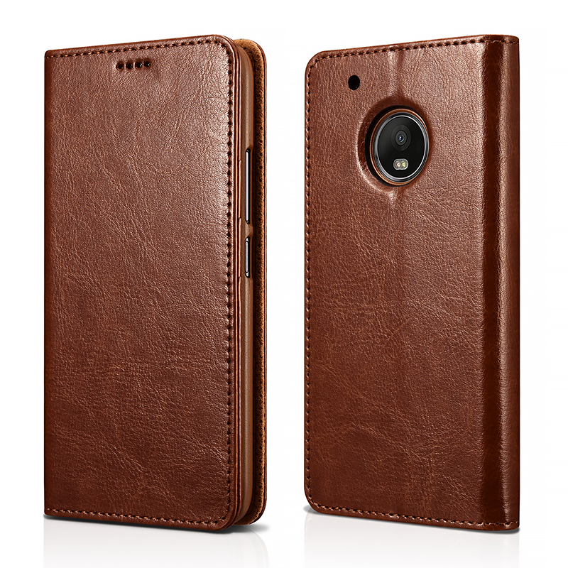 MOTO G5 Plus PU Leather Book Wallet Case Cover(Magnetic Closure)