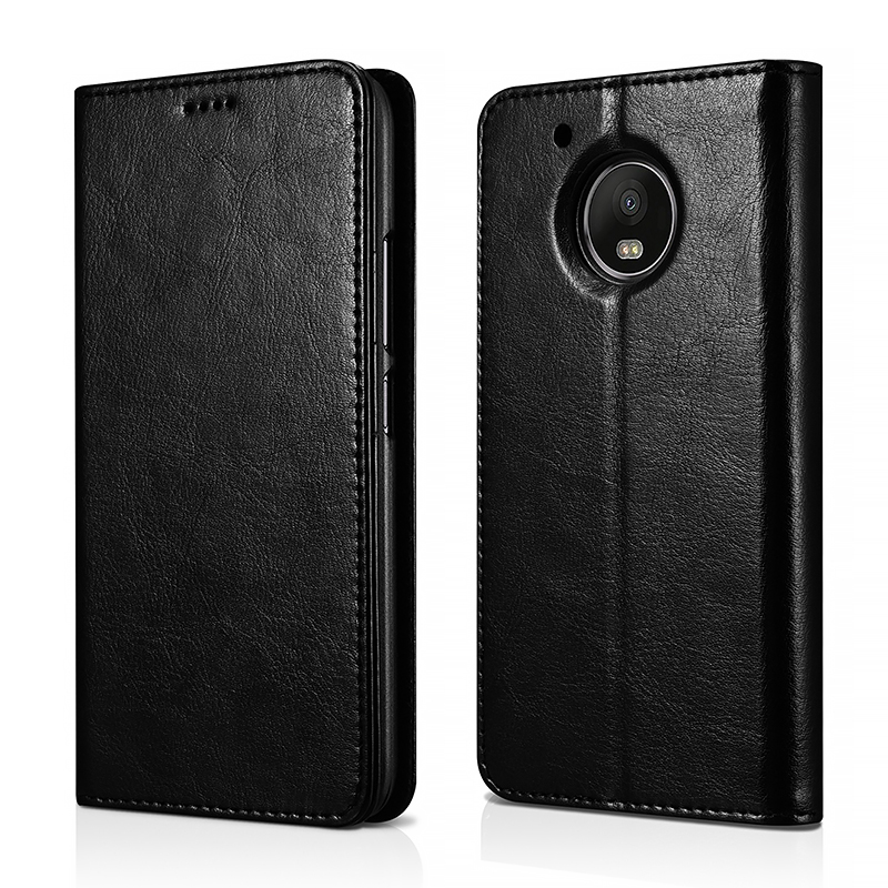 MOTO G5 PU Leather Book Wallet Case Cover(Magnetic Closure)