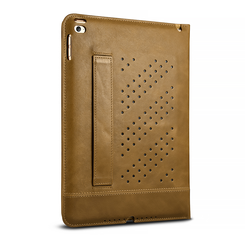 iPad Ari 2 Genuine leather Wallet Case Book Design and Magnetic Closure with Folio Cover and Stand