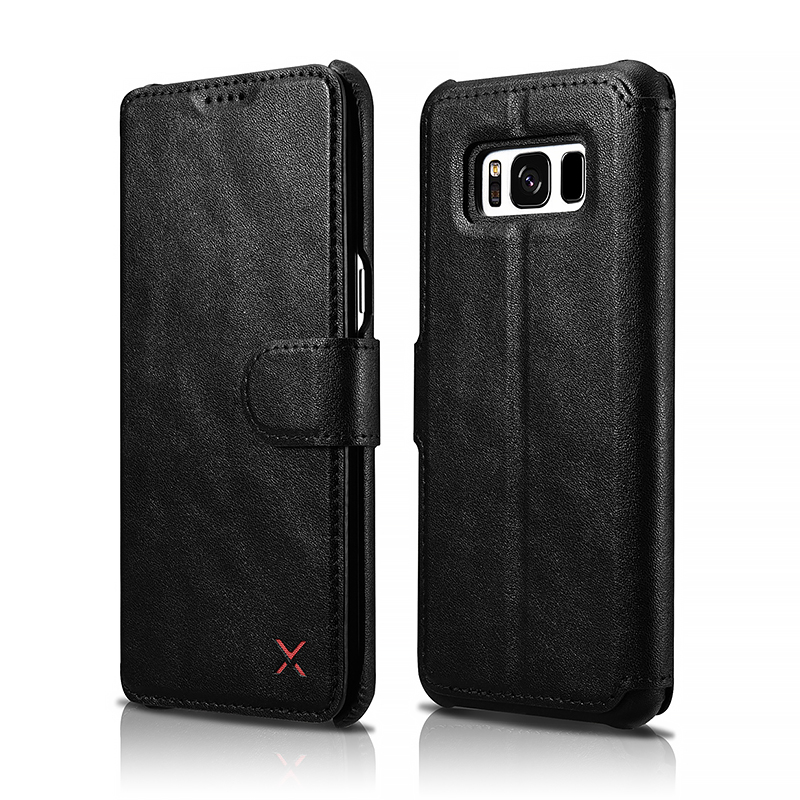 Samsung S8 PU Leather Wallet Folio Case with Magnetic Closure