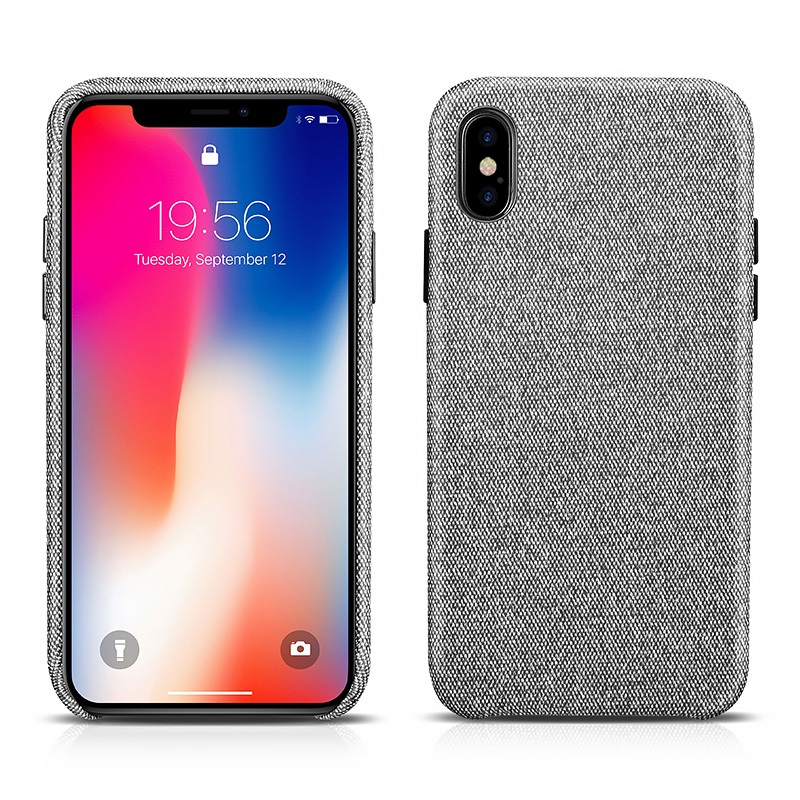 iPhone X Snowy Pattern Fabric Back Cover