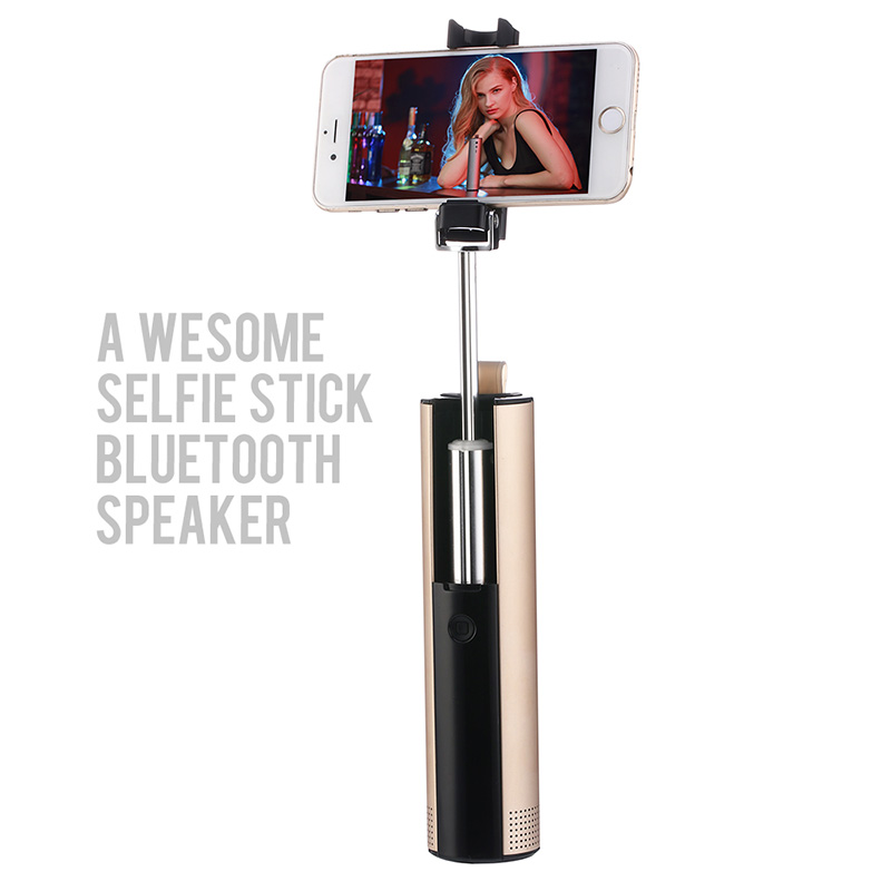 S621 Selfie Stick & Bluetooth Speaker